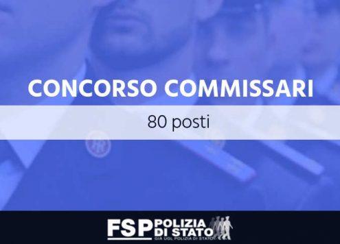 concorso 80 posti commissario