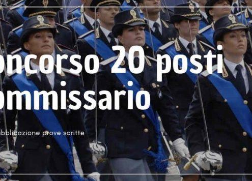 20 posti commissario