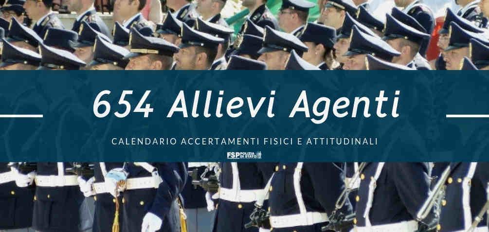Calendario Fisico.654 Allievi Agenti Calendario Per L Accertamento Dei