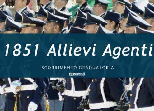 assunzione 1851 allievi agenti