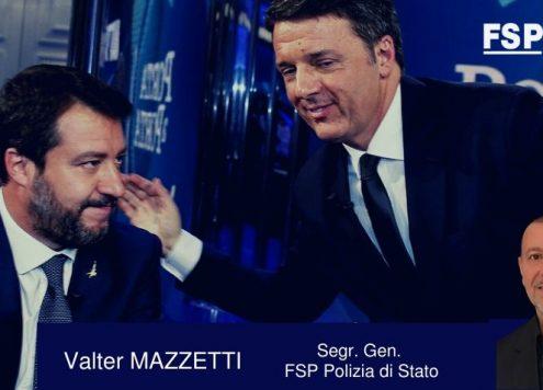 Giono Salvini Renzi FSP Polizia di Stato