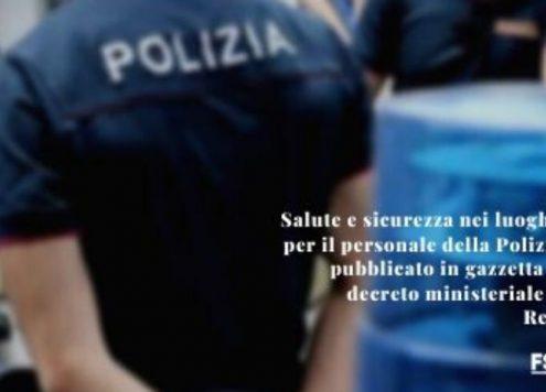 Salute e sicurezza polizia di stato