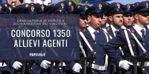 1350 allievi agenti
